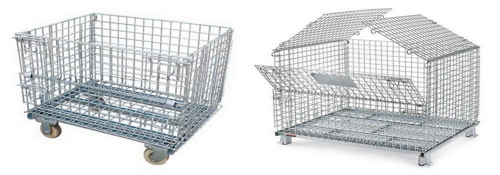 China best Wire Mesh Pallet Cages on sales