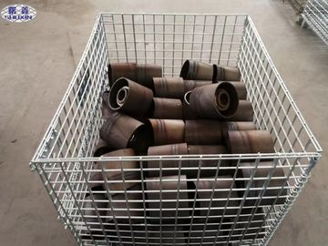 China Galvanized Wire Mesh Pallet Containers High Strength With Long Service Life supplier