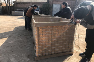 China Collapsible Military Hesco Barriers , Erosion Control Hesco Border Defence Wall supplier