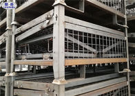 China Heavy Duty Pallet Storage Cage Folding Galvanized Metallic Box 1200*1000*890mm factory