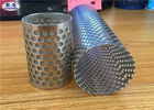 China Welded Perforated Filter Tube , Smooth Flat Surface Perforated Metal Pipe factory