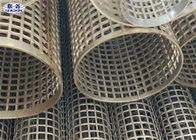 China Silver Welded Perforated Stainless Steel Tube Slotted Tube Filter Cylinders factory