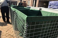 Collapsible Military Hesco Barriers , Erosion Control Hesco Border Defence Wall