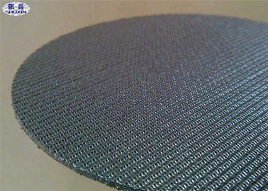 Woven Wire Stainless Steel Filter Disc , Aerospace Quality Round Wire Mesh Discs