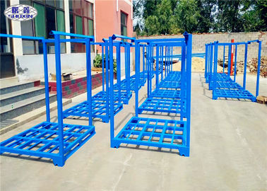 Stackable Tire Racks For Warehouse , Powder Coated Metal Stackable Steel Racks