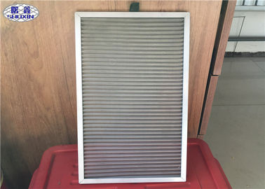 Air Purification Dust Filter Mesh Weave / Perforated With Aluminum Edge