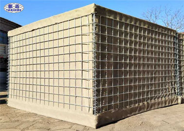 Sand And Earth Filled Military Hesco Barriers Collapsible for Homemade Protection