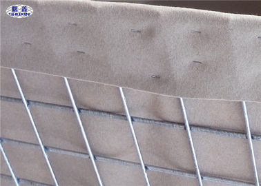 Sand and earth filled Military Hesco Barriers Welded Gabion With Geotextile Lined