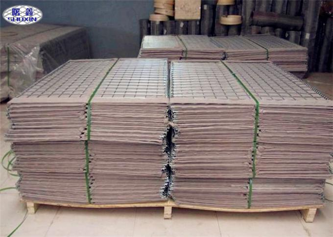 Military Sand Filled Barriers , Mil1 - Mil10 Welded Hesco Bastion Concertainer