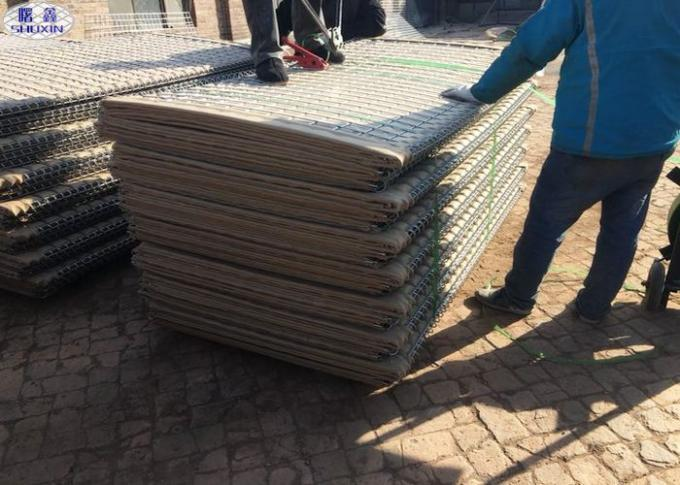 Customized Galvanized Hesco Bastion Sand Filled Barriers For Security Protection
